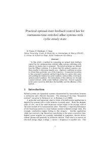 Practical optimal state feedback control law for continuous ... - CRAN