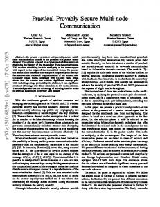 Practical Provably Secure Multi-node Communication - arXiv
