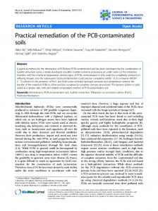 Practical remediation of the PCB-contaminated soils