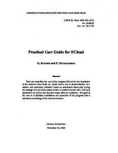 Practical User Guide for ECloud - CLASSE Cornell