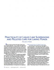 Practicality of Liquid Lime Suspensions and Pelleted Lime for Liming