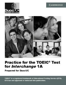 Practice for the TOEIC Test for Interchange 1A