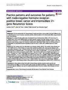 Practice patterns and outcomes for patients with node-negative ...