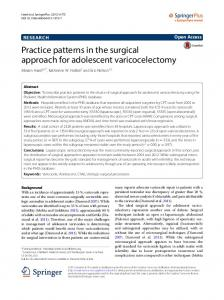 Practice patterns in the surgical approach for