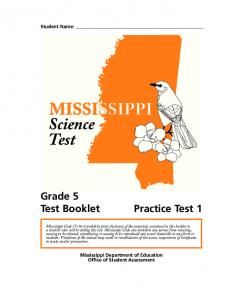 Practice Test 1 - Mississippi Department of Education