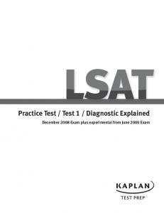 Practice Test / Test 1 / Diagnostic Explained - Kaplan Test Prep