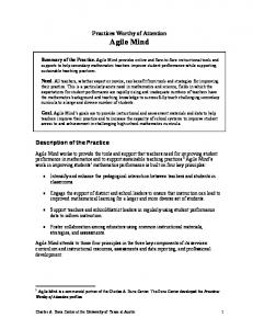 Practices Worthy of Attention: Agile Mind