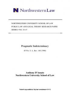 Pragmatic Indeterminacy - SSRN papers