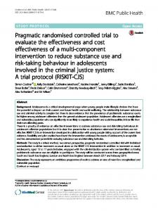 Pragmatic randomised controlled trial to evaluate ... - BMC Public Health