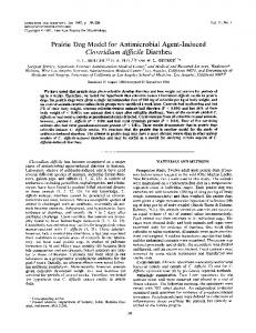 Prairie Dog Model for Antimicrobial Agent-Induced Clostridium difficile ...
