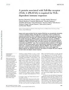 (PRAT4A) is required for TLR- dependent immune ... - BioMedSearch