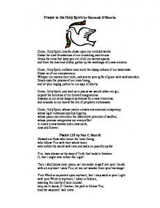 Prayer to the Holy Spirit by Diarmuid O'Murchu