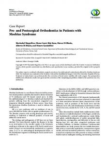 Pre-and Postsurgical Orthodontics in Patients with Moebius Syndrome