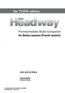 Pre Intermediate 3rd Edition French Companion