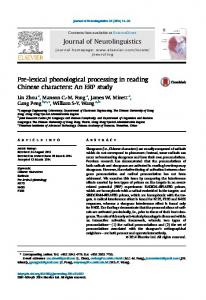 Pre-lexical phonological processing in reading