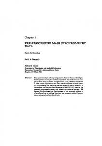 PRE-PROCESSING MASS SPECTROMETRY DATA