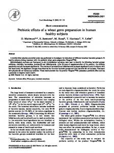 Prebiotic effects of a wheat germ preparation in