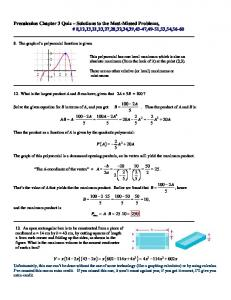 Precalculus Chapter 3 Quiz