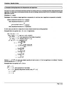 Precalculus: Equation Solving Concepts: Solving Equations with ...