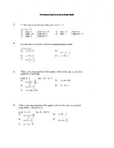 Precalculus Quarterly Exam Study Guide 1. 2. 3. 4. - City of Fall ...