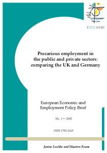 Precarious employment in the public and private sectors: comparing ...