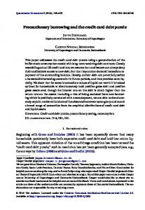 Precautionary borrowing and the credit card debt puzzlewww.researchgate.net › publication › fulltext › Precaution