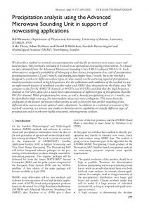 Precipitation analysis using the Advanced ... - Wiley Online Library