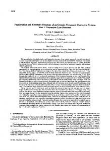 Precipitation and Kinematic Structure of an Oceanic Mesoscale ...