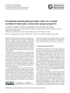 Precipitation and microphysical studies with a low cost high resolution ...