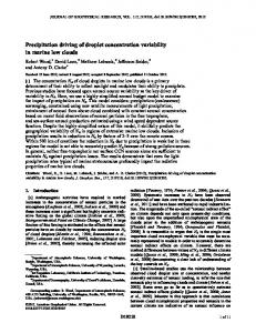 Precipitation driving of droplet concentration ... - Wiley Online Library