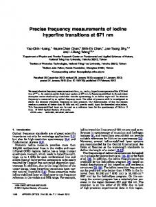 Precise frequency measurements of iodine hyperfine ... - OSA Publishing