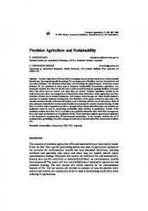 Precision Agriculture and Sustainability - Springer Link