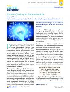 Precision Chemistry for Precision Medicine - ACS Publications