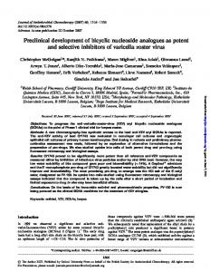 Preclinical development of bicyclic nucleoside