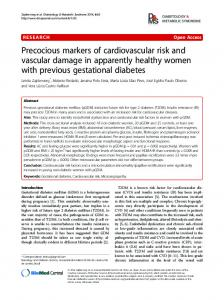 Precocious markers of cardiovascular risk and vascular damage in ...