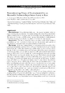 Preconditioning Effects of Dexmedetomidine on ...