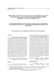 PREDATORY ACTIVITY OF Arthrobotrys oligospora AND ... - SciELO