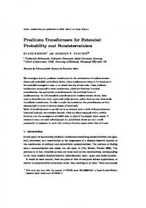 Predicate Transformers for Extended Probability