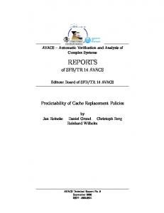 Predictability of Cache Replacement Policies - AVACS