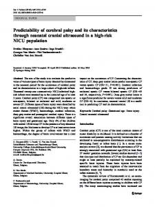 Predictability of cerebral palsy and its characteristics through neonatal ...