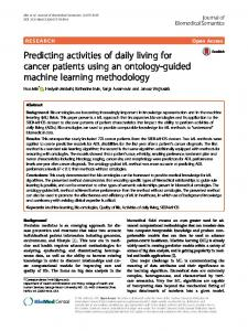 Predicting activities of daily living for cancer patients using an ontology ...