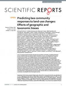 Predicting bee community responses to land-use changes ... - Core