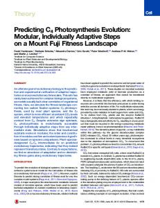 Predicting C4 Photosynthesis Evolution: Modular ... - Cell Press