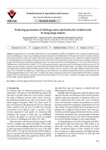 Predicting germination of Medicago sativa and Onobrychis ... - DergiPark
