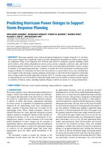 Predicting Hurricane Power Outages to Support ... - Semantic Scholar
