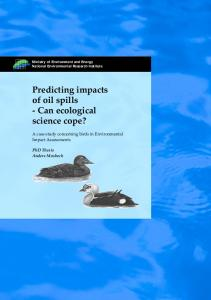 Predicting impacts of oil spills
