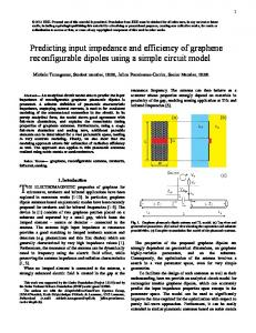 Predicting input impedance and efficiency of graphene ... - arXiv.org