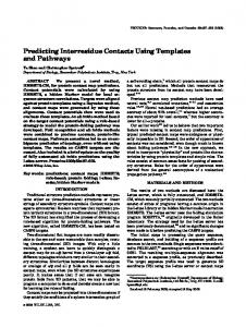 Predicting Interresidue Contacts Using Templates and Pathways