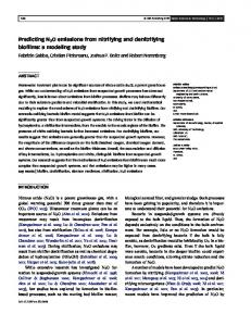 Predicting N2O emissions from nitrifying and