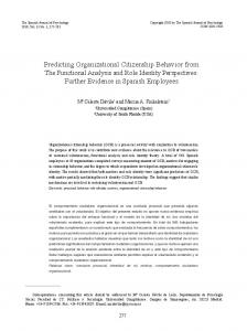 Predicting Organizational Citizenship Behavior from